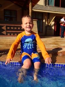 Levi at Enashipai pool